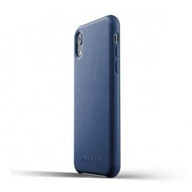 Mujjo Étui de protection en cuir iPhone XR bleu