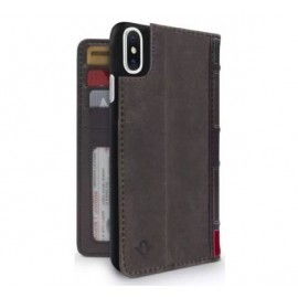 Twelve South Bookbook - iPhone XS Max - Coque en cuir Marron
