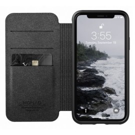 Nomad Rugged Folio Étui portefeuille en cuir iPhone X / XS Marron