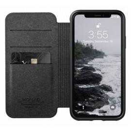 Nomad Rugged Folio Étui portefeuille en cuir iPhone XS Max Marron