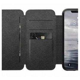Etui rigide Nomad Tri-Folio pour iPhone X / XS Marron