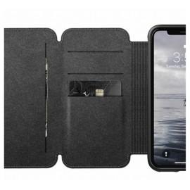 Etui rigide Nomad Tri-Folio pour iPhone XR Marron