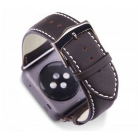 Dbramante1928 Copenhagen Sangle Apple Watch 38mm gris/marron foncé