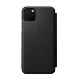 Nomad Rugged Folio Étui portefeuille en cuir iPhone 11 Pro Max Noir