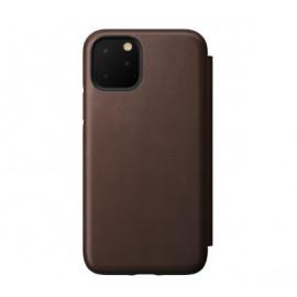 Nomad Rugged Folio Étui portefeuille en cuir iPhone 11 Pro Max Marron