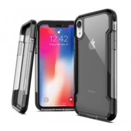 X-Doria Defense Clear - iPhone XR - Coque noire transparente