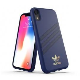 Adidas Coque Moulée - iPhone XR - Bleu foncé - Noir - Logo OR
