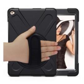 Casecentive Handstrap - Coque Antichoc - iPad 2017 / 2018  - Noire
