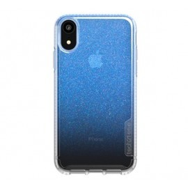 Tech21 Coque Pure Shimmer iPhone XR bleue