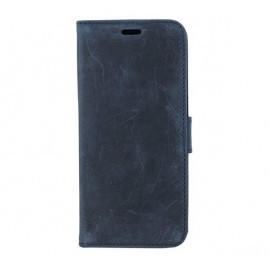 Valenta Booklet Classic Luxe Vintage - Coque Portefeille - Galaxy S9 Bleue
