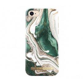 Coque iDeal of Sweden iPhone 8 / 7 /6  / 6S en marbre doré vert