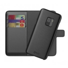 BeHello 2-in-1 Wallet - Étui Samsung Galaxy S9 - Noire
