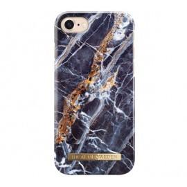 iDeal of Sweden Coque Fashion iPhone 7 / 8 / SE 2020 marbre bleu nuit