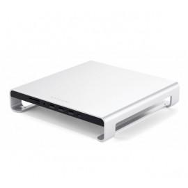 Support d'écrans Satechi en aluminium argenté pour iMac