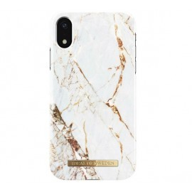 iDeal of Sweden Coque Fashion iPhone XS Max marbre blanc or