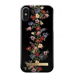 iDeal of Sweden Coque Fashion iPhone X / XS noir et fleuri