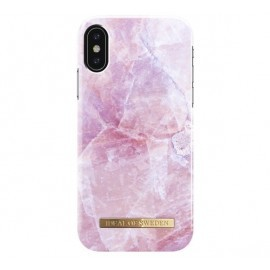 iDeal of Sweden Coque Fashion iPhone X / XS marbre rose
