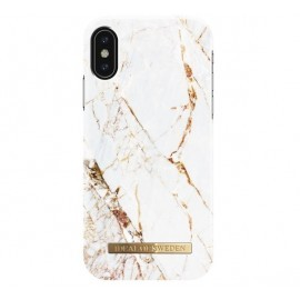 iDeal of Sweden Coque Fashion iPhone X / XS marbre blanc et or