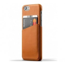 Coque portefeuille Mujjo en cuir iPhone 6(s) marron