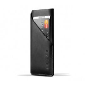 Mujjo Coque Portefeuille en cuir - Housse - iPhone X / XS - Noire