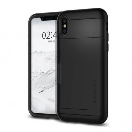 Spigen Slim Armor CS Coque iPhone X / XS Noir