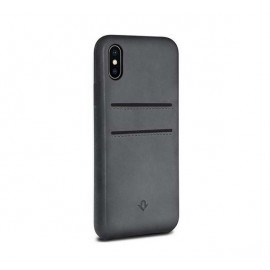 Twelve South Relaxed Leather étui iPhone X / XS gris