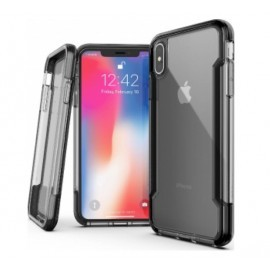 X-Doria Defense Clear - iPhone XS Max - Coque noire transparente