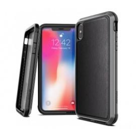 X-Doria Defense - iPhone XS Max - Coque en cuir noire