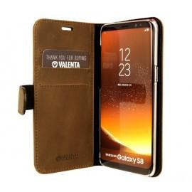 Valenta Coque Folio Samsung Galaxy S8 - Marron