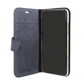 Valenta Coque Cuir Folio iPhone X / XS Bleue