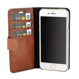 Valenta Coque Folio iPhone 6(S) / 7 / 8 / SE 2020 - Marron