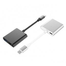 Hyper 3-in-1 USB-C hub 4K HDMI silver