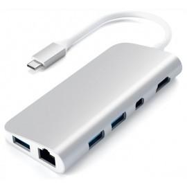 Adaptateur Satechi Type USB C vers Multimedia - Argent - Pour Mac