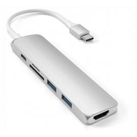 Adaptateur Satechi Mac - Type usb c vers HDMI Hub V2 - Argent