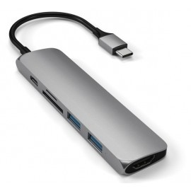 Adaptateur Satechi Mac - Type usb c vers HDMI Hub V2 - Gris