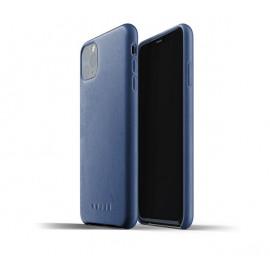 Mujjo - Coque iPhone 11 Pro Max de protection - en cuir - Bleue