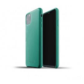 Mujjo - Coque iPhone 11 Pro Max de protection - en cuir - Vert