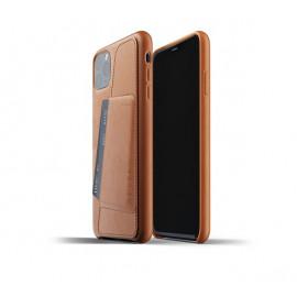 Mujjo - Coque iPhone 11 Pro Max portefeuille - en cuir - Marron