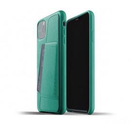 Mujjo - Coque iPhone 11 Pro Max portefeuille - en cuir - Vert
