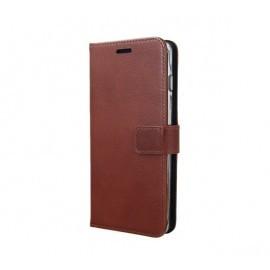 Valenta Booklet Gel skin Coque Samsung Galaxy S10 Marron