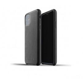 Mujjo - Coque iPhone 11 de protection - en cuir - Noire