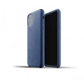 Mujjo - Coque iPhone 11 de protection - en cuir - Bleue