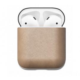 Nomad Boite AirPods | Etui en cuir écouteurs sans fil Beige