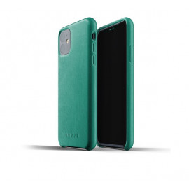 Mujjo - Coque iPhone 11 de protection - en cuir - Vert