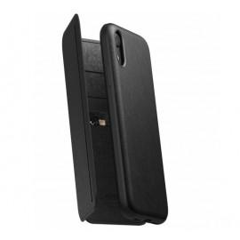 Etui robuste Nomad Tri-Folio pour iPhone XR en noir