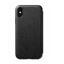 Etui rigide Nomad Tri-Folio pour iPhone XS Max noir