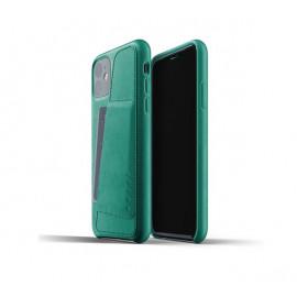 Mujjo - Coque iPhone 11 portefeuille - en cuir - Vert