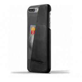 Coque Portefeuille en Cuir Mujjo iPhone 7 / 8 Plus Noir