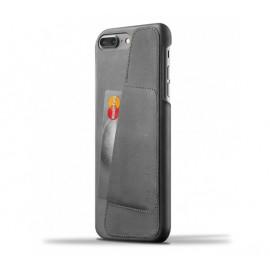 Coque Portefeuille en Cuir Mujjo iPhone 7 / 8 Plus Gris