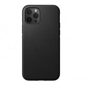 Nomad Rugged Leather Case iPhone 12 / iPhone 12 Pro zwart
